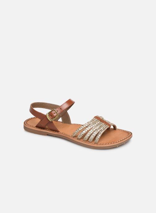 Sandales et nu-pieds L'Atelier Tropézien Joséphine Or et bronze vue détail/paire