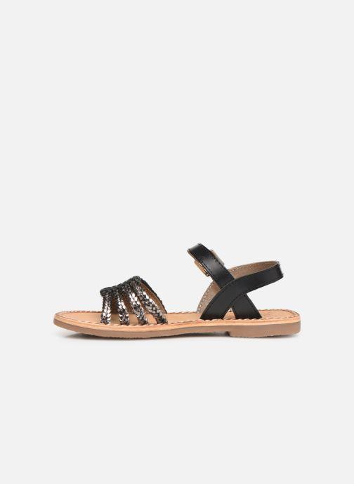 Sandalen L'Atelier Tropézien Joséphine schwarz ansicht von vorne