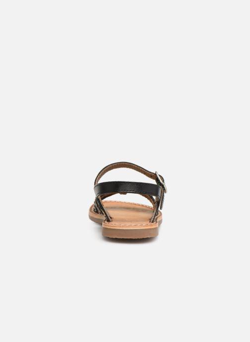 Sandales et nu-pieds L'Atelier Tropézien Joséphine Noir vue droite
