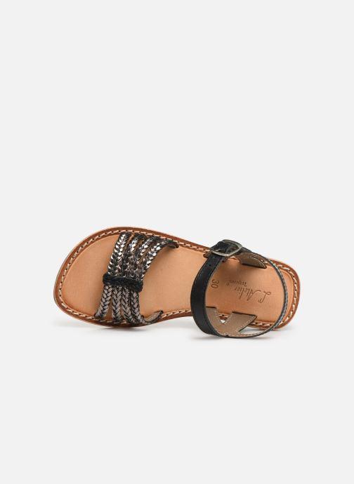 Sandales et nu-pieds L'Atelier Tropézien Joséphine Noir vue gauche