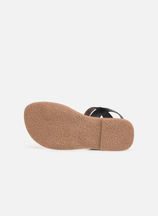 Sandales et nu-pieds L'Atelier Tropézien Joséphine Noir vue haut
