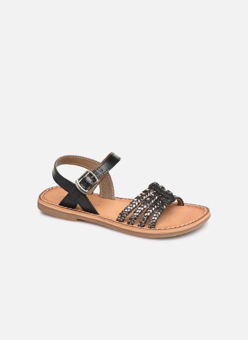 Sandales et nu-pieds L'Atelier Tropézien Joséphine Noir vue détail/paire