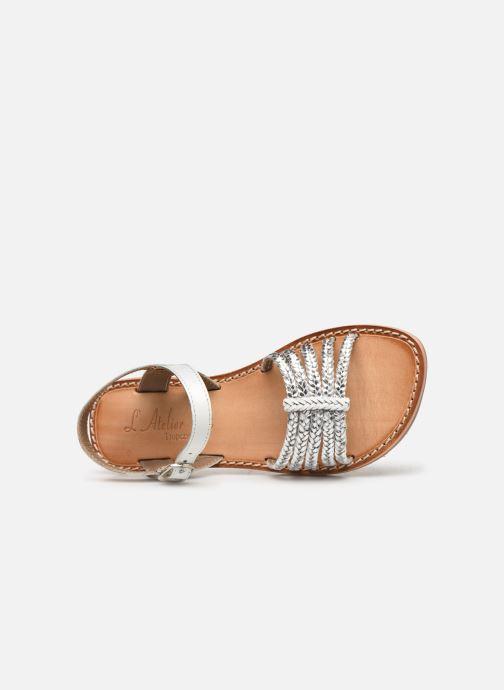 Sandales et nu-pieds L'Atelier Tropézien Joséphine Argent vue gauche