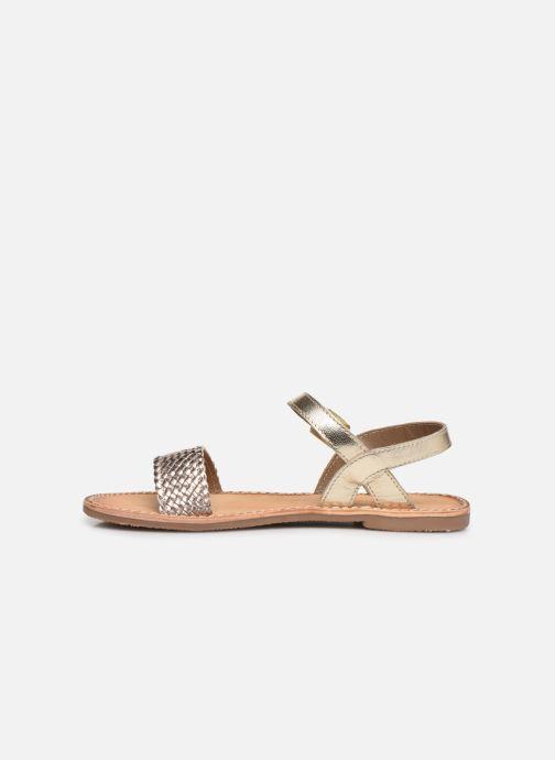 Sandales et nu-pieds L'Atelier Tropézien Philippine Or et bronze vue face