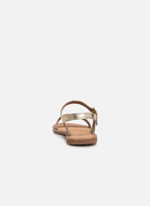 Sandales et nu-pieds L'Atelier Tropézien Philippine Or et bronze vue droite