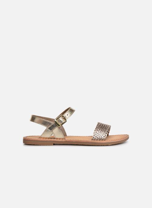 Sandales et nu-pieds L'Atelier Tropézien Philippine Or et bronze vue derrière
