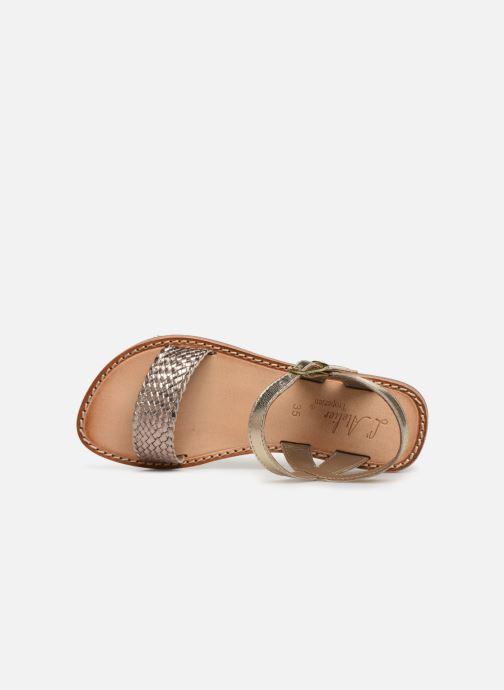 Sandales et nu-pieds L'Atelier Tropézien Philippine Or et bronze vue gauche