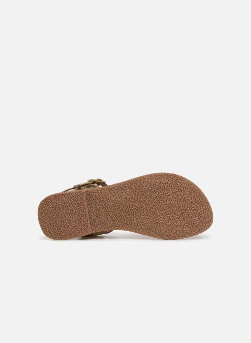 Sandales et nu-pieds L'Atelier Tropézien Philippine Or et bronze vue haut
