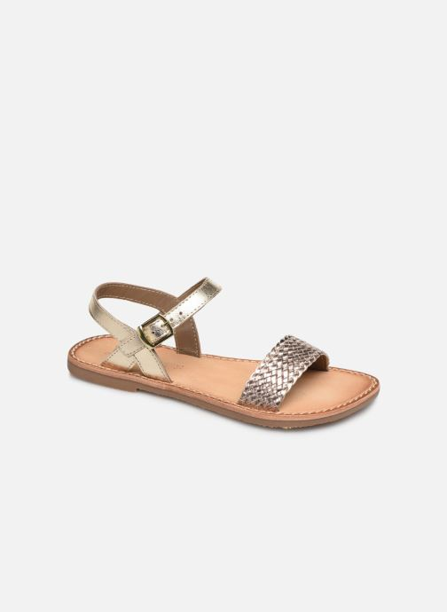 Sandals L'Atelier Tropézien Philippine Bronze and Gold detailed view/ Pair view