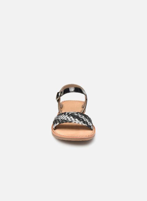 Sandales et nu-pieds L'Atelier Tropézien Philippine Noir vue portées chaussures