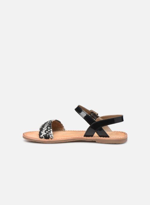 Sandales et nu-pieds L'Atelier Tropézien Philippine Noir vue face