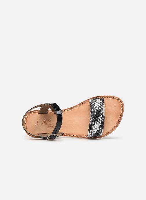 Sandalen L'Atelier Tropézien Philippine schwarz ansicht von links