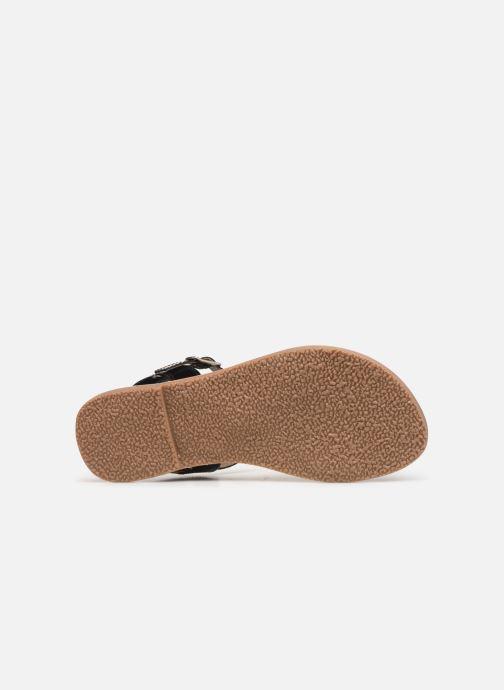 Sandales et nu-pieds L'Atelier Tropézien Philippine Noir vue haut