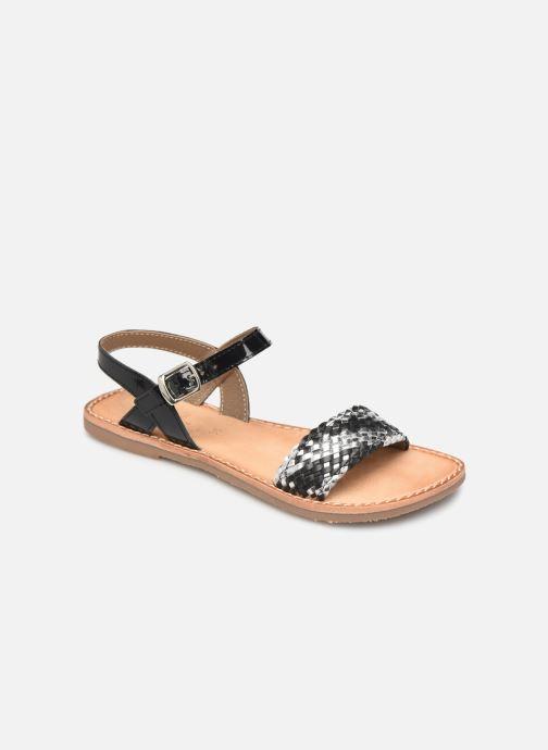 Sandales et nu-pieds L'Atelier Tropézien Philippine Noir vue détail/paire