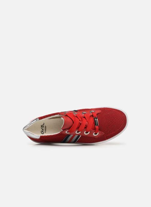 Sneakers Ara New York 14512 Röd bild från vänster sidan