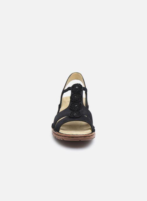 Sandales et nu-pieds Ara Hawai 27217 Noir vue portées chaussures