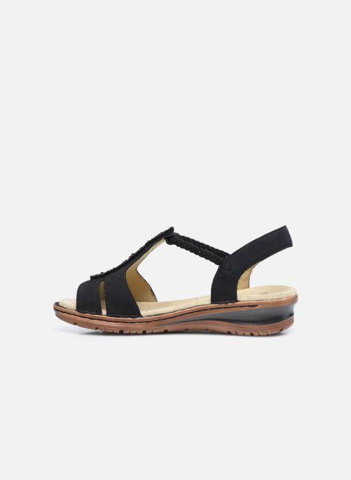 Sandales et nu-pieds Ara Hawai 27217 Noir vue face