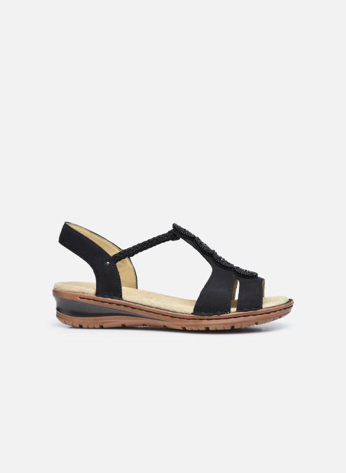 Sandales et nu-pieds Ara Hawai 27217 Noir vue derrière