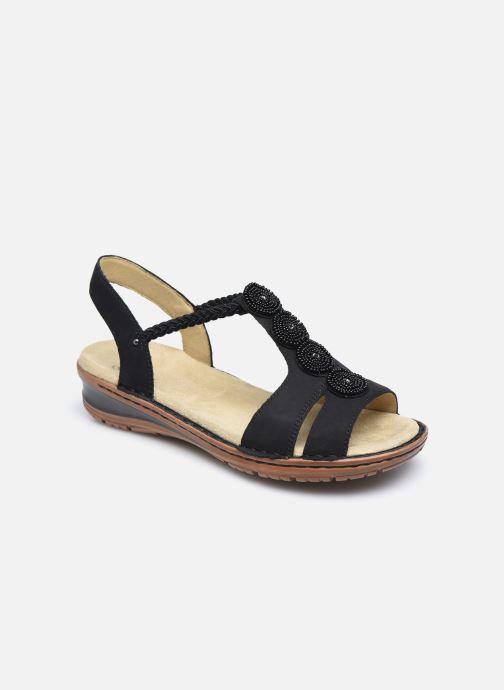 Sandales et nu-pieds Ara Hawai 27217 Noir vue détail/paire