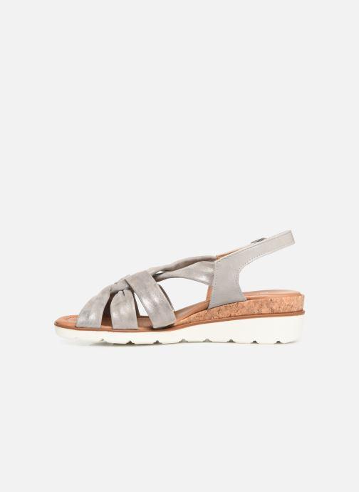 Sandales et nu-pieds Ara Lugano 35701 Gris vue face
