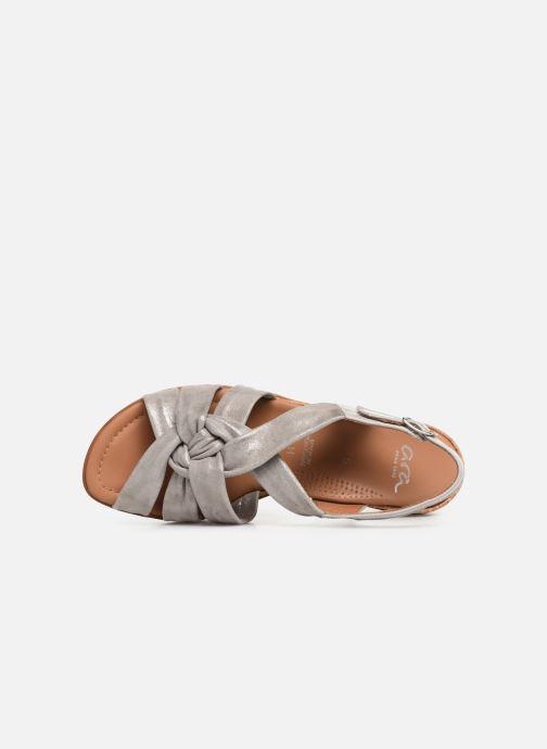 Sandales et nu-pieds Ara Lugano 35701 Gris vue gauche