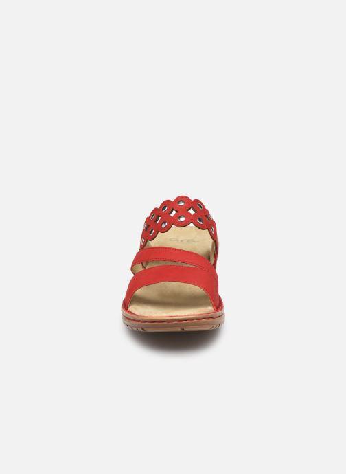 Mules et sabots Ara Hawai 37201 Rouge vue portées chaussures