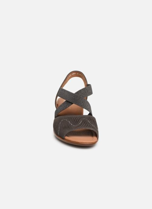 Sandales et nu-pieds Ara Lugano 35764 Gris vue portées chaussures