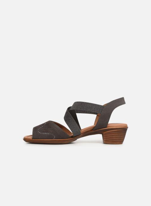 Sandales et nu-pieds Ara Lugano 35764 Gris vue face