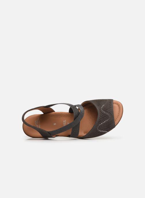 Sandales et nu-pieds Ara Lugano 35764 Gris vue gauche