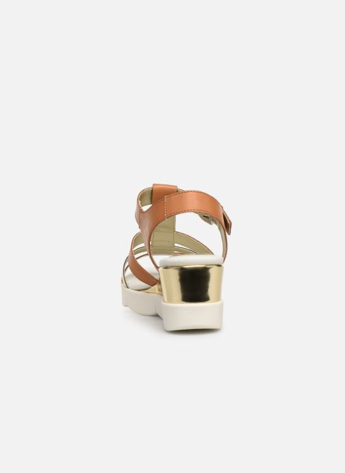 Sandalias The Flexx Cinstrap Marrón vista lateral derecha