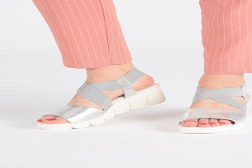Sandalen The Flexx Slincross silber ansicht von unten / tasche getragen