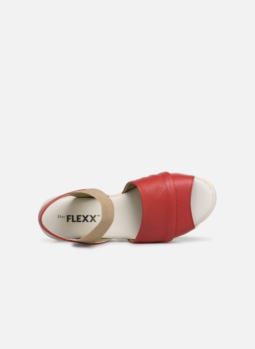 Sandalias The Flexx Miura Rojo vista lateral izquierda