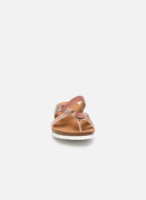 Mules et sabots Think! Julia 84334 Rose vue portées chaussures