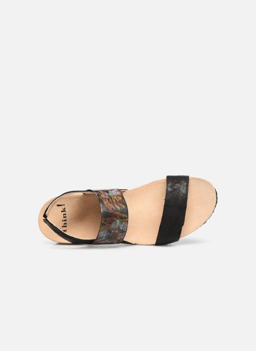 Sandales et nu-pieds Think! Dumia 84373 Noir vue gauche