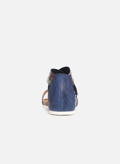 Sandales et nu-pieds Think! Shik 84593 Bleu vue droite