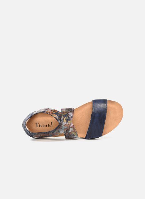 Sandales et nu-pieds Think! Shik 84593 Bleu vue gauche