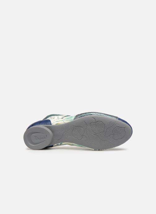 Bottines et boots Think! Guad 84288 Bleu vue haut