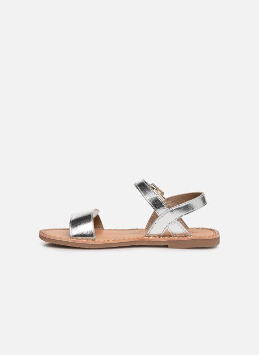 Sandalen L'Atelier Tropézien Cassandre silber ansicht von vorne