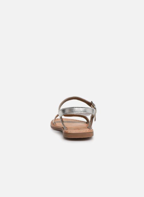 Sandales et nu-pieds L'Atelier Tropézien Cassandre Argent vue droite