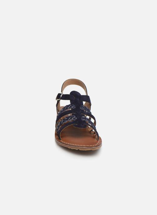 Sandales et nu-pieds L'Atelier Tropézien Marina Bleu vue portées chaussures