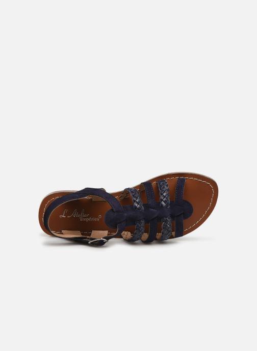 Sandales et nu-pieds L'Atelier Tropézien Marina Bleu vue gauche