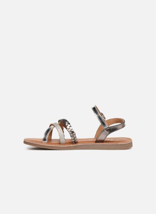 Sandales et nu-pieds L'Atelier Tropézien Diane Argent vue face