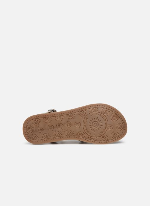 Sandales et nu-pieds L'Atelier Tropézien Diane Argent vue haut