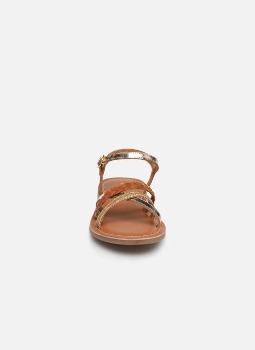 Sandalen L'Atelier Tropézien Diane braun schuhe getragen