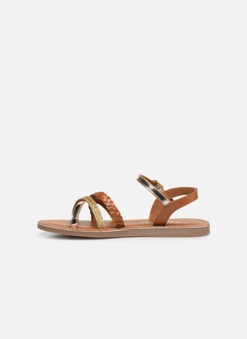 Sandalen L'Atelier Tropézien Diane braun ansicht von vorne