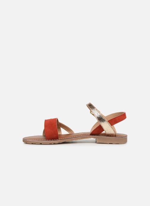 Sandales et nu-pieds L'Atelier Tropézien Constance Rouge vue face