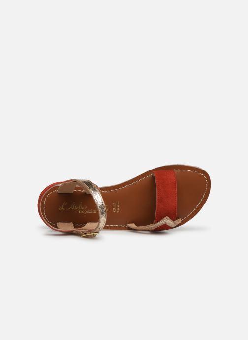 Sandales et nu-pieds L'Atelier Tropézien Constance Rouge vue gauche