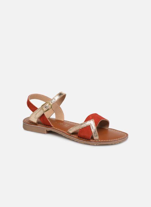 Sandales et nu-pieds L'Atelier Tropézien Constance Rouge vue détail/paire