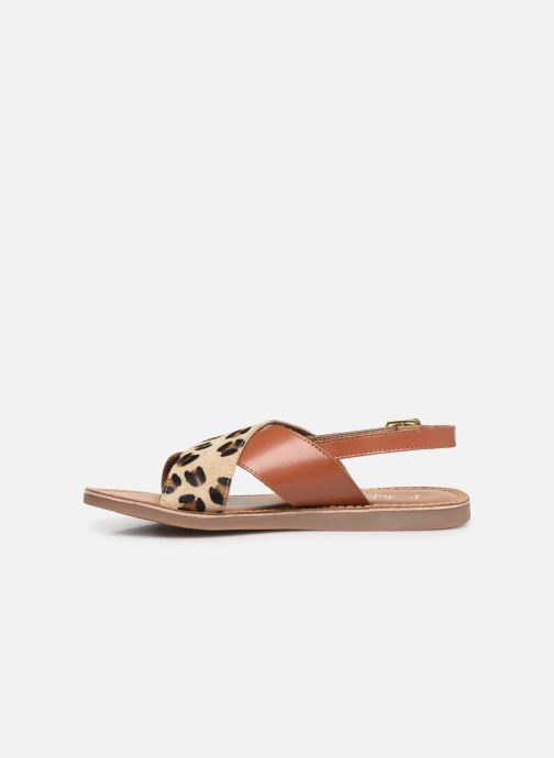 Sandales et nu-pieds L'Atelier Tropézien Agathe Marron vue face