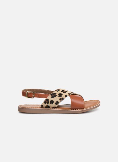 Sandales et nu-pieds L'Atelier Tropézien Agathe Marron vue derrière